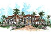 Mediterranean Style House Plan - 6 Beds 6.5 Baths 9870 Sq/Ft Plan #27-278