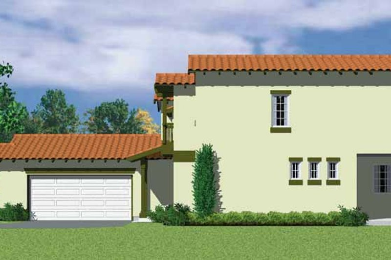 House Blueprint - Adobe / Southwestern Exterior - Other Elevation Plan #72-1126