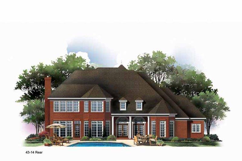Country Exterior - Rear Elevation Plan #952-187 - Houseplans.com