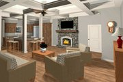 Craftsman Style House Plan - 4 Beds 3 Baths 1898 Sq/Ft Plan #56-710 Interior - Family Room