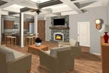 Craftsman Interior - Family Room Plan #56-710