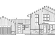 Prairie Style House Plan - 3 Beds 3 Baths 3219 Sq/Ft Plan #1042-18 Exterior - Front Elevation