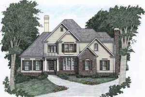 Architectural House Design - Traditional Exterior - Front Elevation Plan #129-102