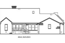 Architectural House Design - European Exterior - Rear Elevation Plan #45-114