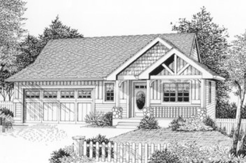 Craftsman Style House Plan - 3 Beds 2.5 Baths 2049 Sq/Ft Plan #53-226 Exterior - Front Elevation