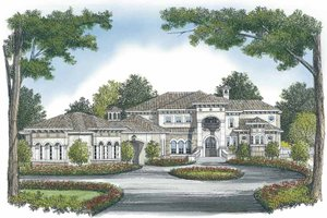 Mediterranean Exterior - Front Elevation Plan #453-610