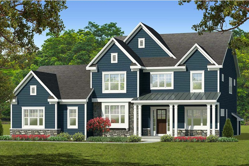 Architectural House Design - Farmhouse Exterior - Front Elevation Plan #1010-227