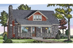 Dream House Plan - Craftsman Exterior - Front Elevation Plan #314-276
