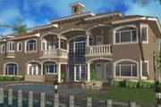Mediterranean Style House Plan - 4 Beds 5.5 Baths 6009 Sq/Ft Plan #420-183 Exterior - Rear Elevation
