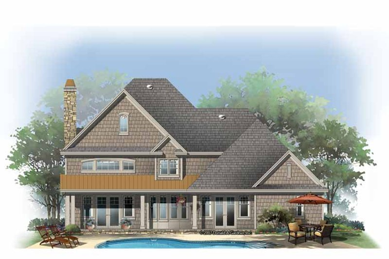 Country Exterior - Rear Elevation Plan #929-835 - Houseplans.com