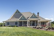 European Style House Plan - 4 Beds 3 Baths 2812 Sq/Ft Plan #929-939 Exterior - Rear Elevation