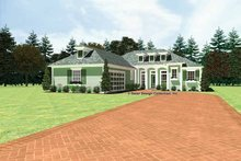 Classical Exterior - Front Elevation Plan #930-439