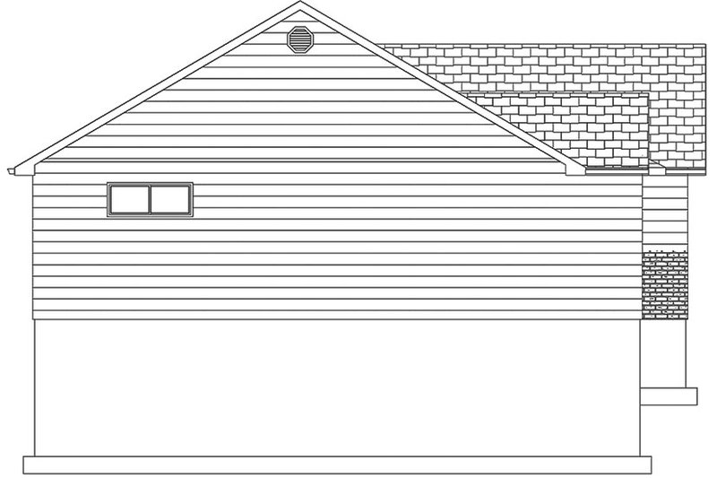 Ranch Exterior - Other Elevation Plan #1060-36 - Houseplans.com