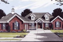 Colonial Exterior - Front Elevation Plan #46-772