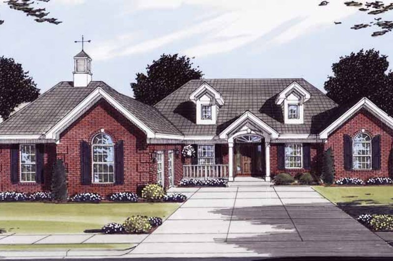 Colonial Exterior - Front Elevation Plan #46-772 - Houseplans.com