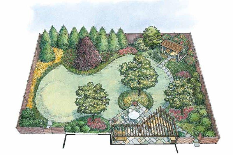 Exterior - Rear Elevation Plan #1040-72