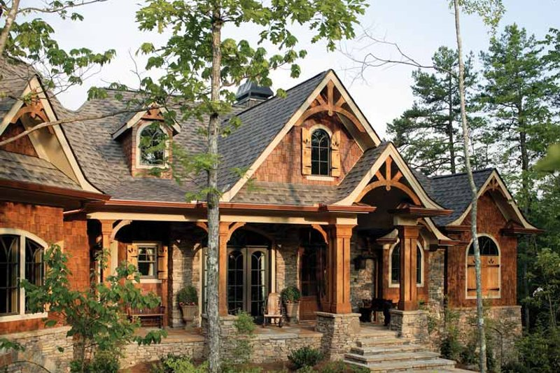 Craftsman Exterior - Front Elevation Plan #54-245 - Houseplans.com