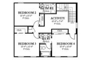 Colonial Style House Plan - 4 Beds 3.5 Baths 2920 Sq/Ft Plan #1058-132 Floor Plan - Upper Floor Plan
