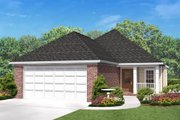 Country Style House Plan - 3 Beds 2 Baths 1500 Sq/Ft Plan #430-51 Exterior - Front Elevation
