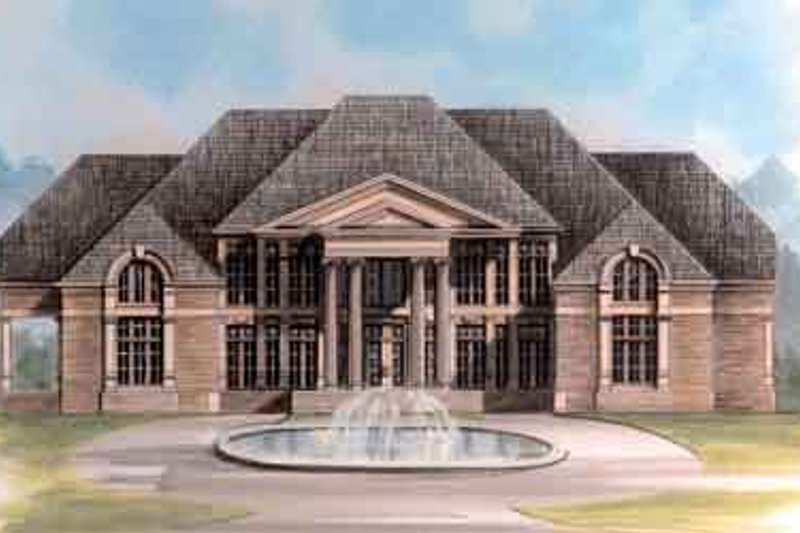 Classical Exterior - Front Elevation Plan #119-181