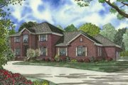 European Style House Plan - 4 Beds 4.5 Baths 4468 Sq/Ft Plan #17-2184 Exterior - Front Elevation