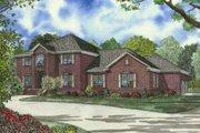 European Style House Plan - 4 Beds 4.5 Baths 4468 Sq/Ft Plan #17-2184