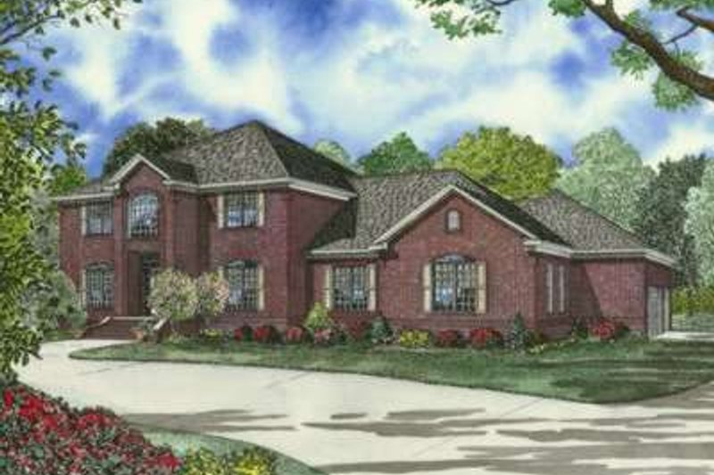 European Style House Plan - 4 Beds 4.5 Baths 4468 Sq/Ft Plan #17-2184
