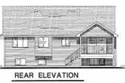 Traditional Style House Plan - 4 Beds 3 Baths 2095 Sq/Ft Plan #18-314 Exterior - Rear Elevation