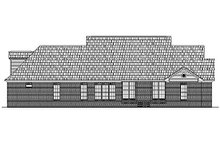 Colonial Exterior - Rear Elevation Plan #430-35