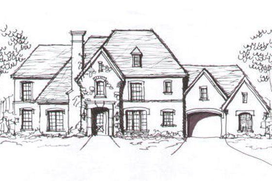 European Exterior - Front Elevation Plan #141-248