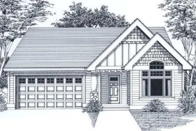 Farmhouse Exterior - Front Elevation Plan #53-137