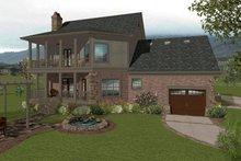House Plan Design - Craftsman Exterior - Rear Elevation Plan #56-702