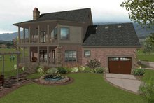 Architectural House Design - Craftsman Exterior - Rear Elevation Plan #56-702