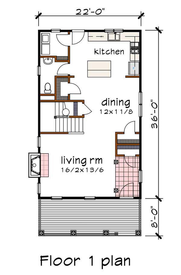 Dream House Plan - Bungalow Floor Plan - Main Floor Plan #79-213