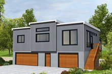 House Plan Design - Contemporary Exterior - Front Elevation Plan #117-905