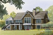 Country Style House Plan - 4 Beds 3.5 Baths 4759 Sq/Ft Plan #901-17 Exterior - Front Elevation