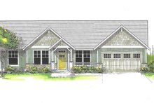 House Plan Design - Craftsman Exterior - Front Elevation Plan #53-591