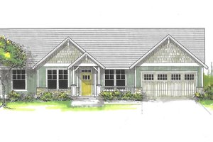 Home Plan - Craftsman Exterior - Front Elevation Plan #53-591
