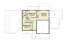 Southern Floor Plan - Upper Floor Plan Plan #1070-12