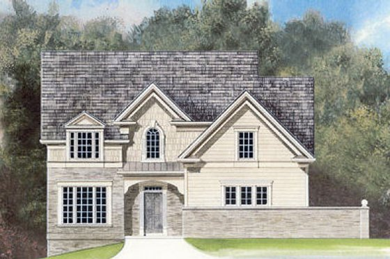 European Exterior - Front Elevation Plan #119-279