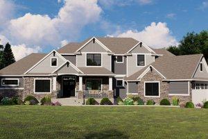 House Blueprint - Craftsman Exterior - Front Elevation Plan #1064-120