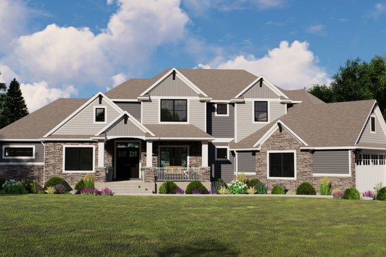 Craftsman Exterior - Front Elevation Plan #1064-120