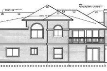 Prairie Exterior - Rear Elevation Plan #92-111