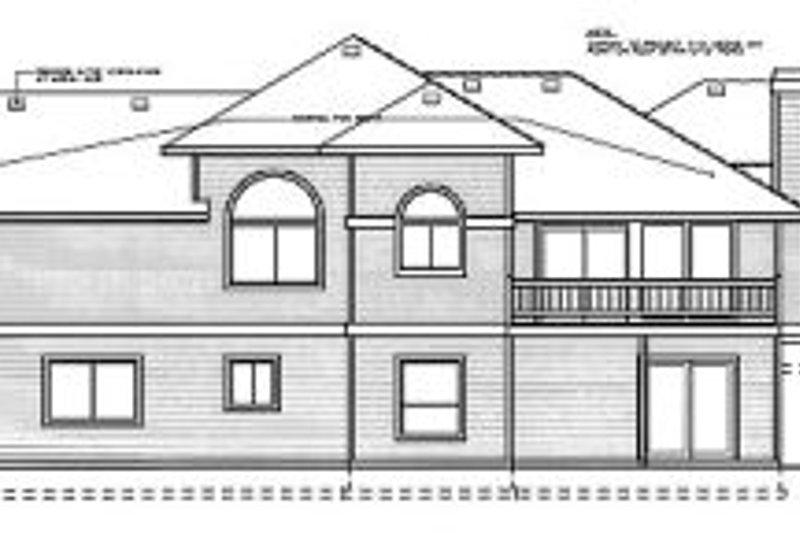 Prairie Exterior - Rear Elevation Plan #92-111 - Houseplans.com