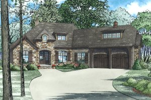 European, Front Elevation, 4 Bed Rooms