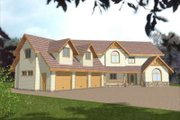 European Style House Plan - 4 Beds 3.5 Baths 3107 Sq/Ft Plan #117-439 Exterior - Front Elevation