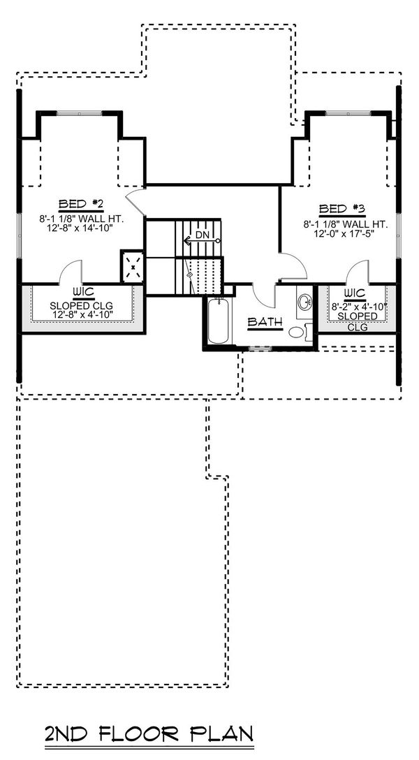 Beach Floor Plan - Upper Floor Plan Plan #1064-27