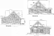 Log Style House Plan - 2 Beds 2.5 Baths 1449 Sq/Ft Plan #17-462 Exterior - Rear Elevation