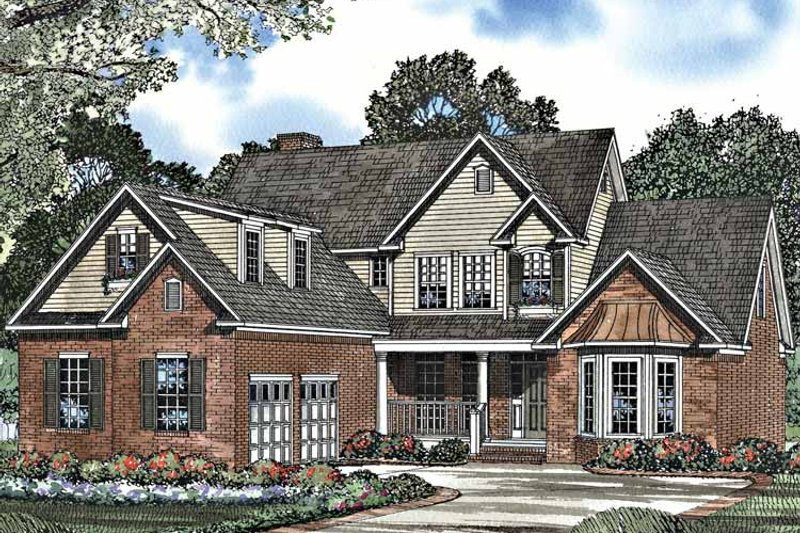 Traditional Exterior - Front Elevation Plan #17-3164 - Houseplans.com