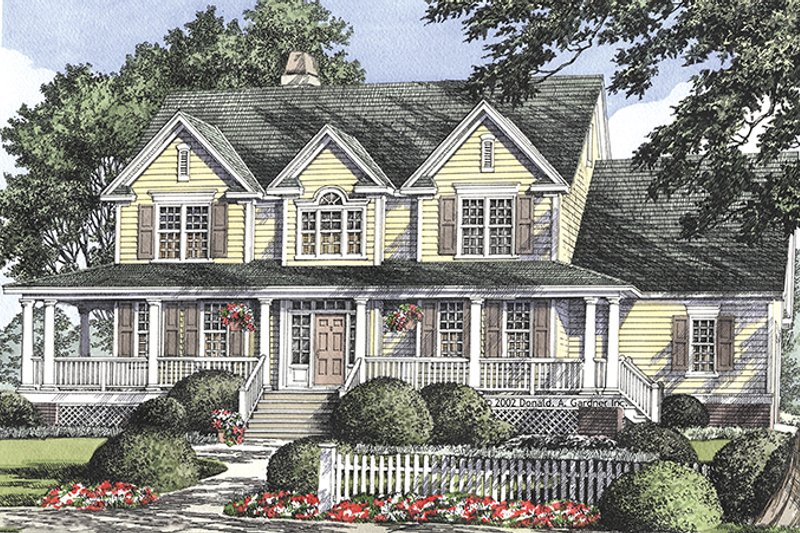 Classical Exterior - Front Elevation Plan #929-686